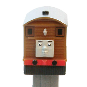 PEZ - Thomas and Friends - Toby - Brown #7 silver roof
