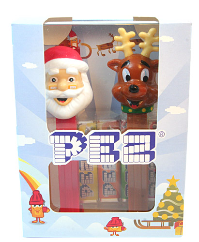 PEZ - Christmas - Santa Claus E and Reindeer - Christmas Twinpack