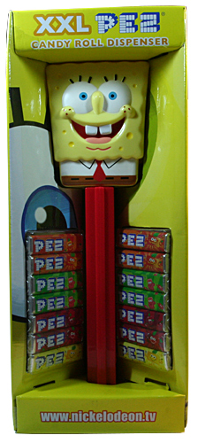 PEZ - Miscellaneous - SpongeBob SquarePants - No Hands, Red Stem