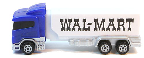 PEZ - Advertising Walmart 1964 - Transporter - Blue cab, white trailer
