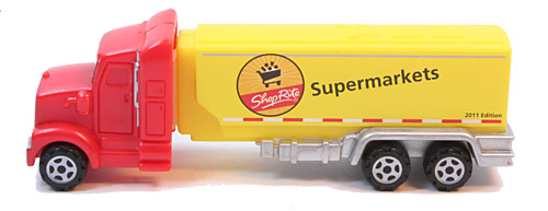 PEZ - Advertising Shop Rite - Truck - Red cab, yellow truck - 2011 edition