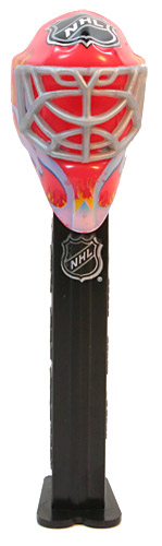 PEZ - Sports Promos - NHL - Mask - Red Fire