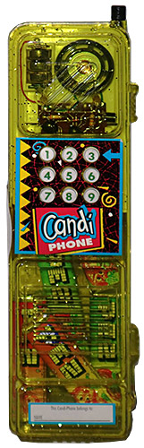 PEZ - Candy-Phone - Candi Phone - Yellow