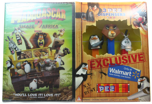 PEZ - Dreamworks Movies - Madagascar - Collectors Set with DVD