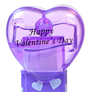 PEZ - Valentine - 2012 short - Happy Valentine's Day - Italic Black on Crystal Purple (c) 2008