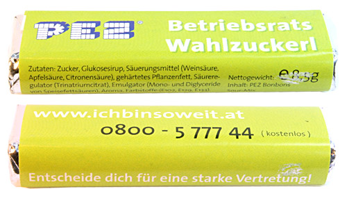 PEZ - Commercial - Betriebsrats Wahlzuckerl
