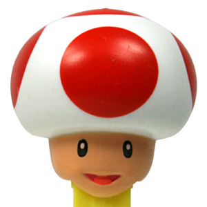 PEZ - Animated Movies and Series - Nintendo - Toad - nude neck