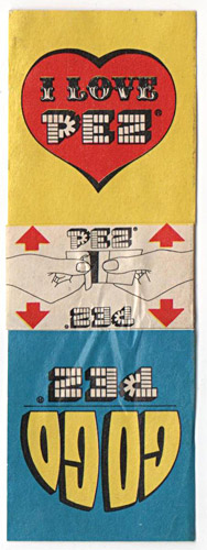 PEZ - Sticker Doubles (1970s) - Square - GoGo PEZ/I Love PEZ