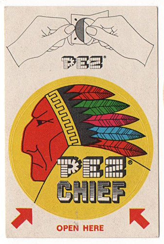 PEZ - Sticker Singles (1970s) - Instructions top - Chief