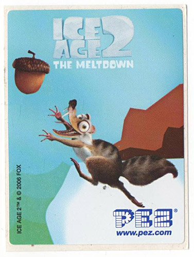 PEZ - Stickers - Ice Age 2 - Squirrel