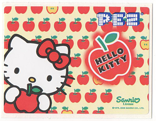 PEZ - Stickers - Hello Kitty - 2008 - Apple red