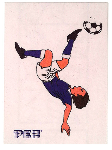 PEZ - Stickers - Soccer - Bicycle Kick