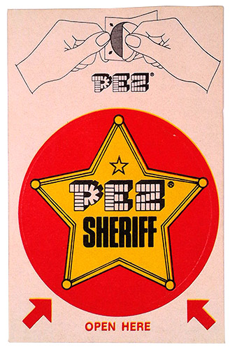 PEZ - Sticker Singles (1970s) - Instructions top - Sheriff