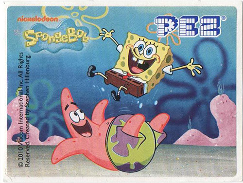PEZ - SpongeBob SquarePants - 2010 - SpongeBob and Patrick Star playing