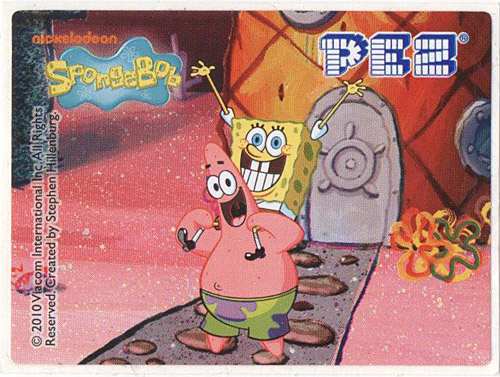 PEZ - SpongeBob SquarePants - 2010 - SpongeBob and Patrick Star with door