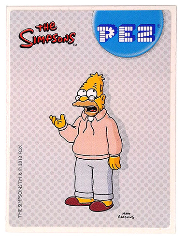 PEZ - Stickers - The Simpsons - 2013 - Abe Simpson