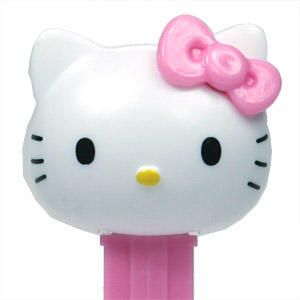 PEZ - Hello Kitty - Hello Kitty - White Head Pink Bow