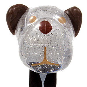 PEZ - AWL / SOS - 1st Anniversary - Barky Brown - Crystal Glitter Head