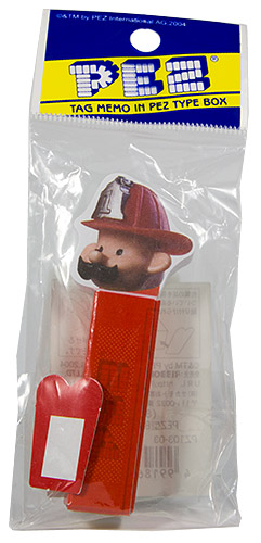 PEZ - Miscellaneous (Non-Dispenser) - Tag Memo - Fireman