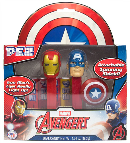 PEZ - Avengers 2015 - Iron Man and Captain America Gift Pack