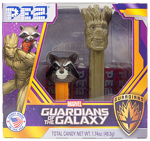 PEZ - Guardians of the Galaxy - Rocket Racoon & Groot Twin Pack