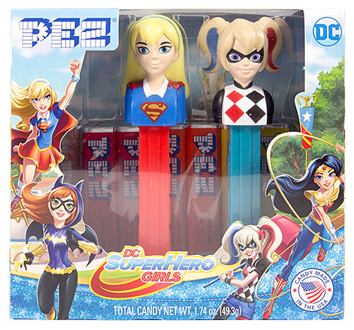 PEZ - Super Hero Girls - Twin Pack Super Hero Girls & Harley Quinn - US Release