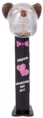 PEZ - AWL / SOS - Valentine 2017 - Barky Brown - Crystal Glitter Head