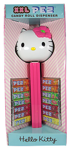 PEZ - Hello Kitty - Hawaiian Hello Kitty - Dark Pink Flower