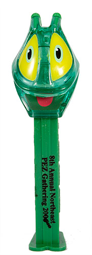 PEZ - Convention - PCN - 2006 - Grasshopper - Green Crystal Head