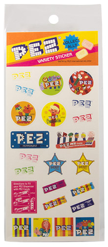 PEZ - Miscellaneous (Non-Dispenser) - Variety Sticker - orange