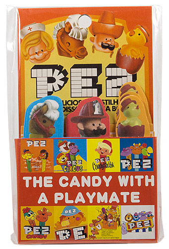PEZ - Miscellaneous (Non-Dispenser) - Bookmarks with heads - The candy with a playmate