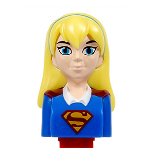 PEZ - Super Heroes - Super Hero Girls - Supergirl - with play code