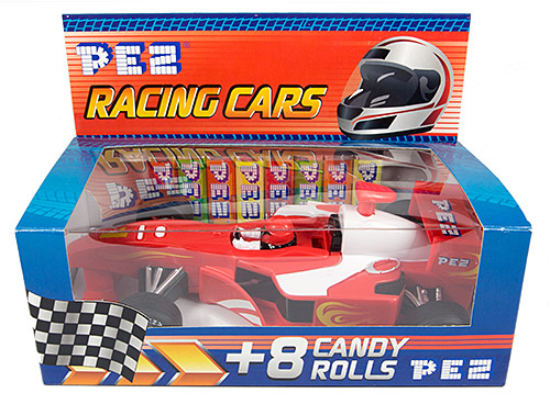 PEZ - Miscellaneous - Racing Car - Red - Flames