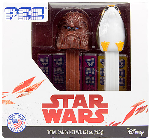 PEZ - Star Wars - Limited Edition - Twin Pack - Chewbacca B & Porg