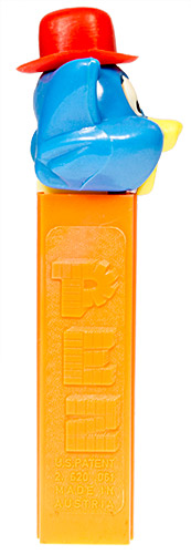 PEZ - Kooky Zoo - Cat with Derby (Puzzy) - Blue/Red/Yellow