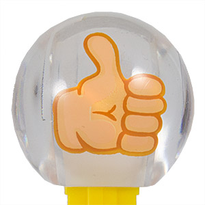 PEZ - Funky Faces - Emoji Crystal Balls - Thumbs Up