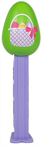 PEZ - Easter - Egg - Green with Easter basket