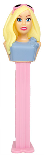 PEZ - Barbie - Serie 2 - Barbie with glasses - turquise with bow - B
