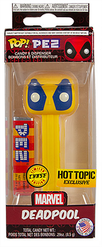 PEZ - Marvel - Hot Topic - Deadpool (Chase) - Yellow Head, Blue Eyes