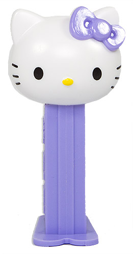 PEZ - Hello Kitty - Jijonenca - Hello Kitty - Mini White Head Light Purple Bow