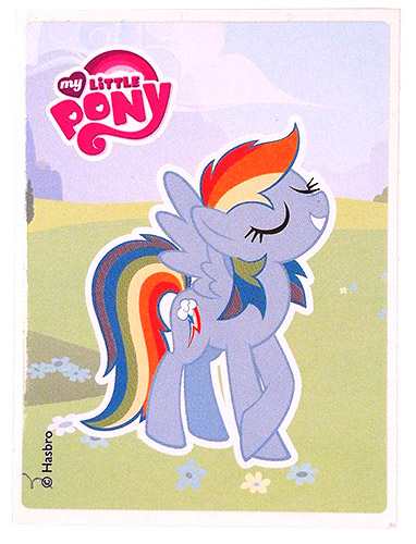 PEZ - Stickers - My Little Pony - Rainbow Dash on gras