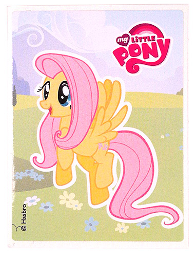 PEZ - Stickers - My Little Pony - Fluttershy on gras