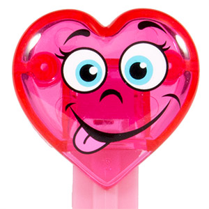 PEZ - Valentines - Happy Crystal Heart - Pink Crystal Head