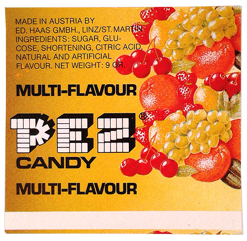 PEZ - Major Types - Fruit - Fruit - F-A 07b