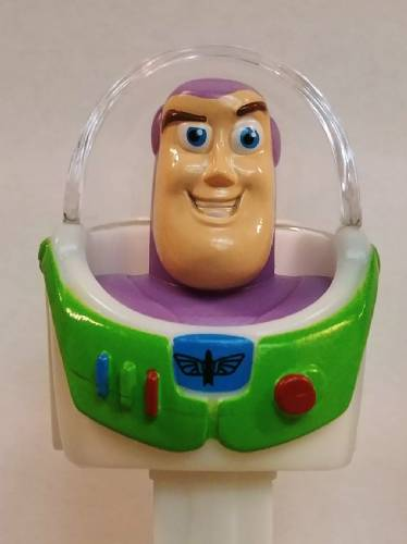 PEZ - Toy Story - Toy Story 4 - Buzz Lightyear - white painted teeth, pink skin