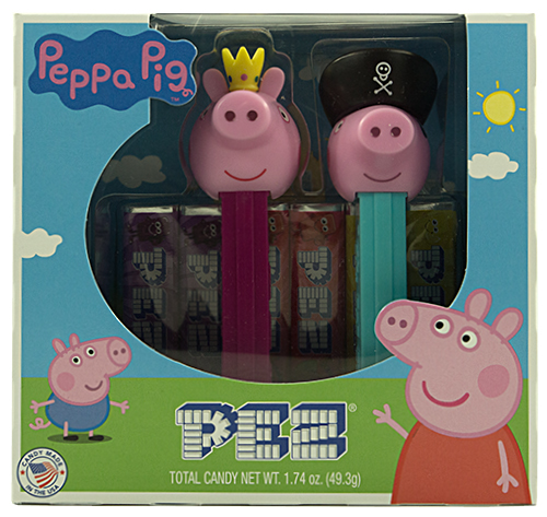 PEZ - Peppa Pig - Peppa Pig Twin-Pack Peppa Princess & George Pirate