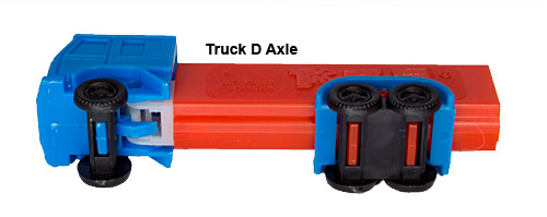 PEZ - Trucks - Series D - Cab #R2 - Blue Cab - B